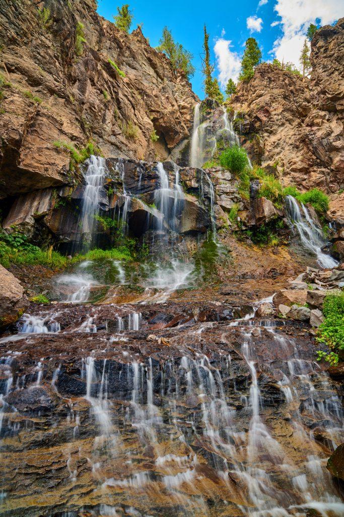 waterfall near pagosa springs in colorado