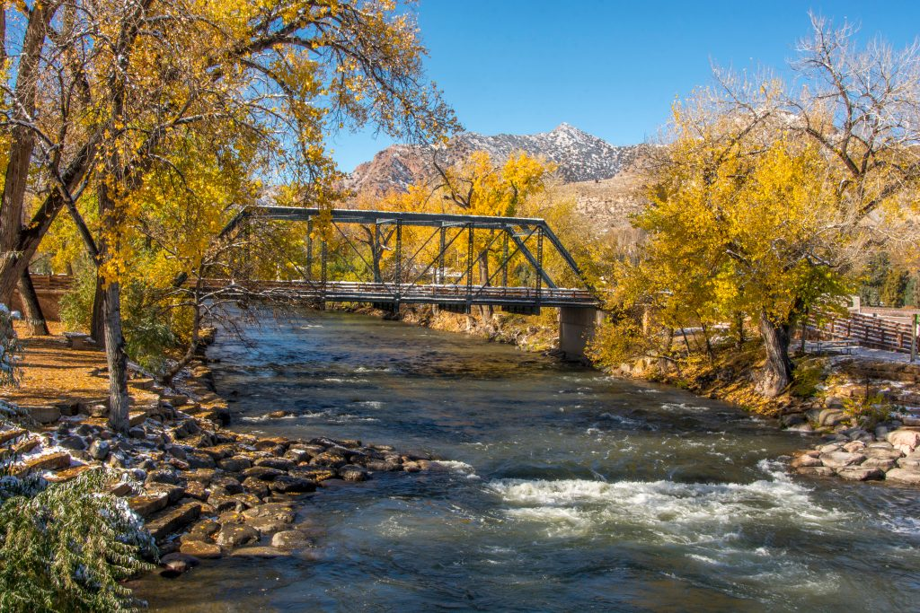 arkansas river in canon city in the fall