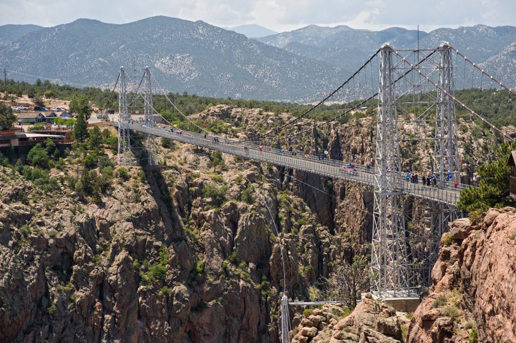 royal gorge bridge in canon city, one of the best vacation spots in colorado