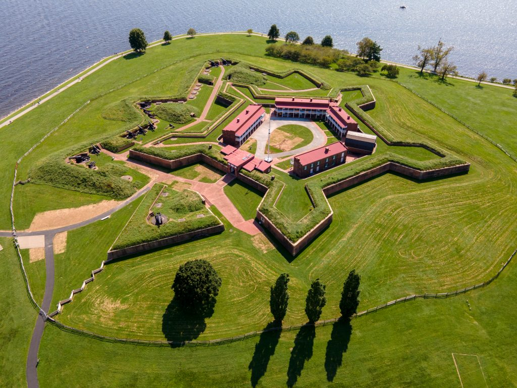 aerial view of fort mchenry, one of the best things to do in baltimore weekend getaway
