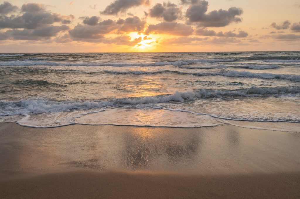 florida beach at sunset, one of the best warm places to visit in november in usa
