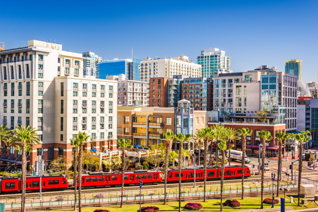 cityscape of san diego california on a sunny day