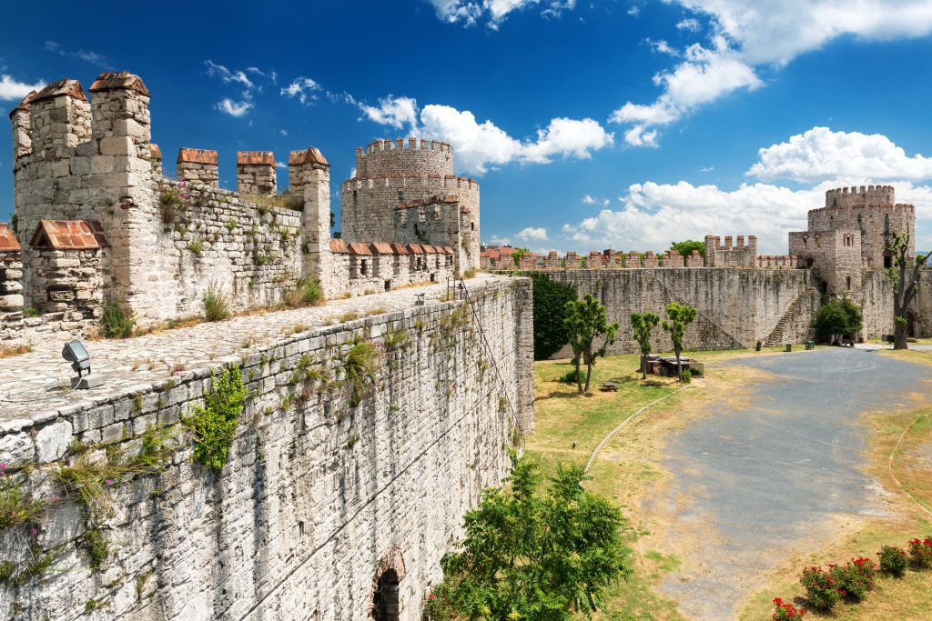 historic walls of constantinople in istanbul turkey