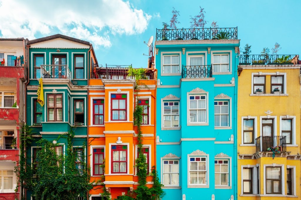 colorful houses in balat, one of the best neighborhoods in istanbul to visit