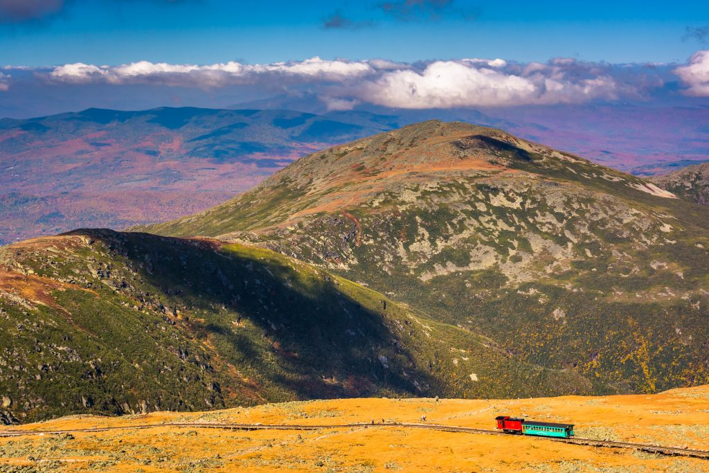 view of the mount washington cog railway from the summit of the mountain, of the top things to do usa