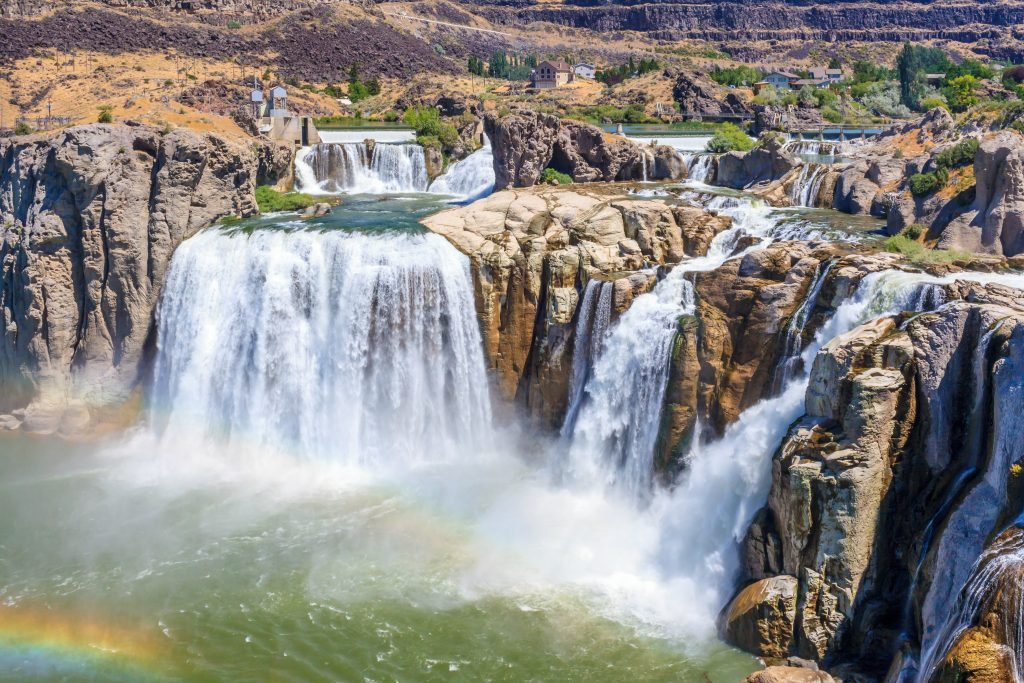 shoshone falls idaho as seen from above, one of the top tourist attractions in usa