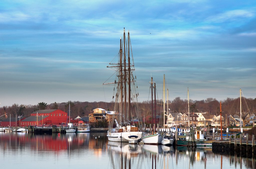 tall ship in the harbor of mystic connecticut, one of the best things to do usa tourist attractions